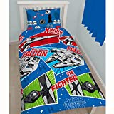 Star Wars Childrens Boys Vehicles Reversible Duvet Cover Bedding Set (Single, Double) (Twin) (Red/Blue/Green)