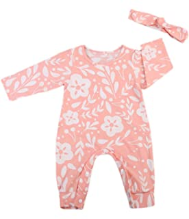 a2db1514b Newborn Baby Boy Girl Fox Jumpsuit Romper Long Sleeves Bodysuit+Hat ...