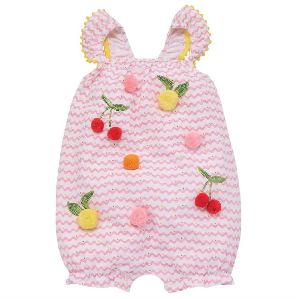 Infant Mud Pie Baby Girls Pom Pom Fruit Bubble