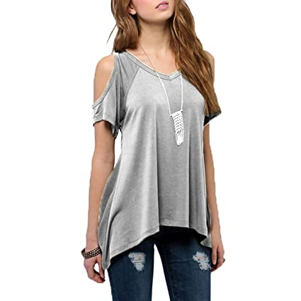 Sexy off the shoulder gray top