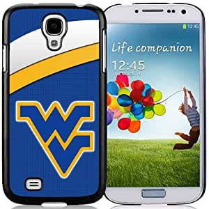 NEW Personalized Customized Galaxy S4 Case with NCAA Big 12 Conference Big12 Football West Virginia Mountaineers 4 Logo Cell Phone Hardshell Cover Case for Galaxy S4 SIV S IV I9500 I9505 Black