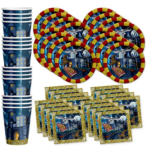 Wizard Castle Birthday Party Supplies Set Plates Napkins Cups Tableware Kit for 16 by Birthday Galore ()