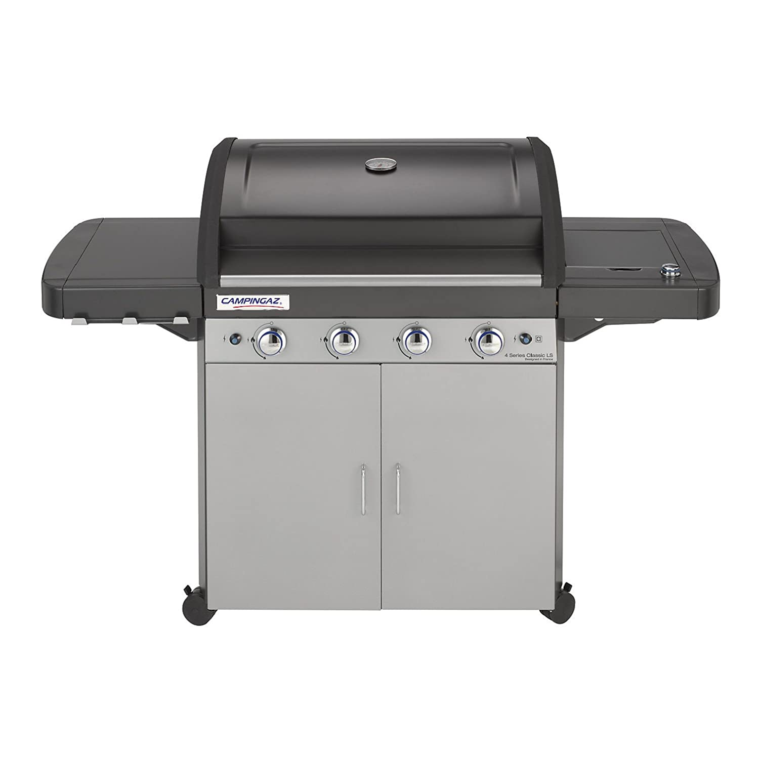 Campingaz 4 Series Classic Ls.Campingaz Gas Bbq 4 Series Classic Ls 4 1 Burner Stainless Steel Gas Barbecue Large Gas Grill With Side Burner Stamped Steel Grid Griddle
