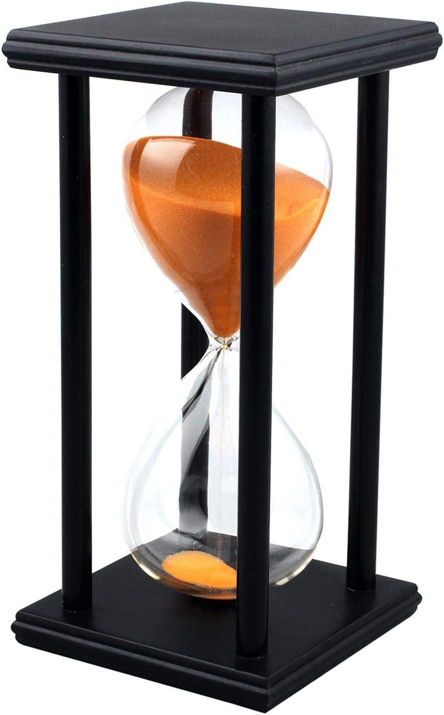 Lodunsyr Reloj De Arena 60 Minutos Timer Chico para Ornamento Restaurante Decoración Hogar Escritorio De Oficina Navidad Niña Reloj De Arena Temporizador 60 Min Hourglass Naranja
