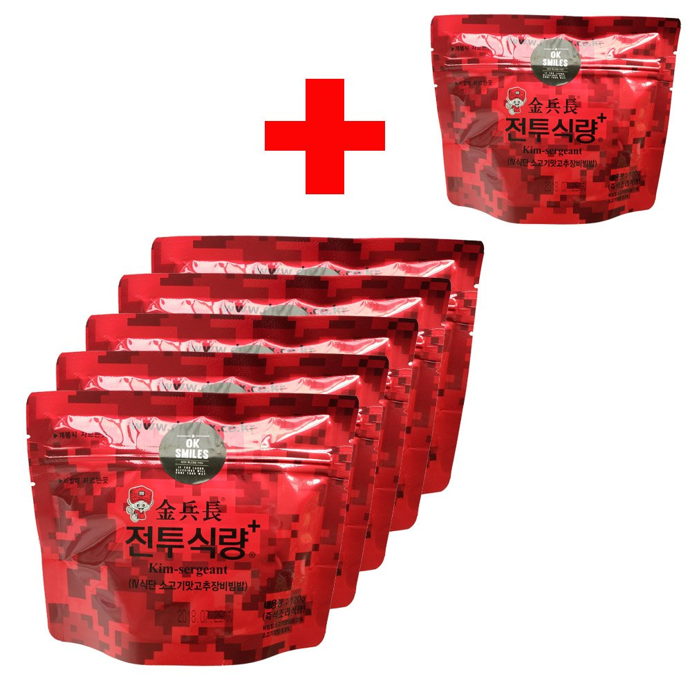 Korea mre korea Military food 120g/6pack Rations Combat Surplus!DATREX Emergency food for Disaster or Survival, Great for Fishing, Hunting!!!Free Spoon! Total 6 Pack by Kim sergeant