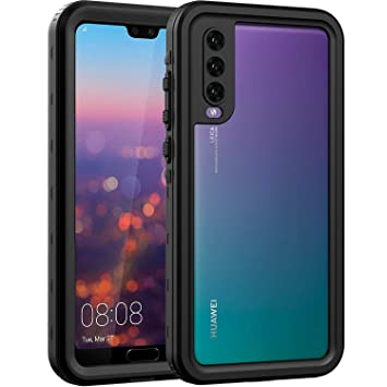 big sale f43f6 dd795 ASAKUKI Waterproof Case For HUAWEI P20 PRO, Full Body Drop Protection Clear  Case with Screen Protector and Kickstand, Shockproof and Waterproof for ...