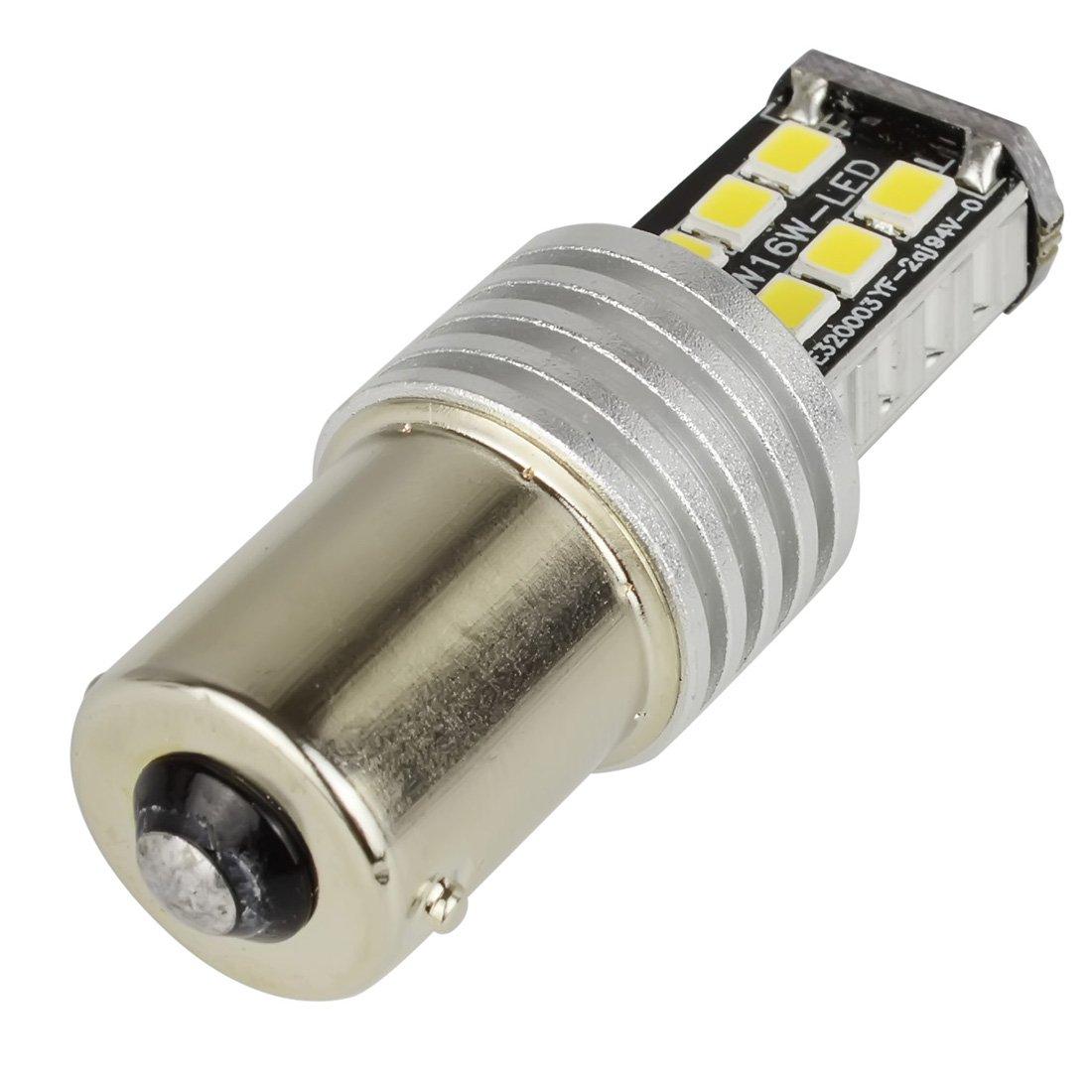 Safego 2x P21W 1156 BA15S LED 2835 15SMD Ampoules Feux de Arri/ère Recul Clignotant Blanche Pur DC 12V 6000K