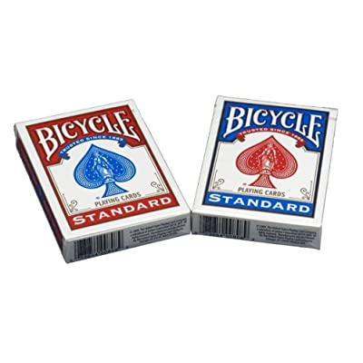 Bicycle Poker Size Standard Index Playing Cards, 6 Deck Player's Pack: Sports & Outdoors