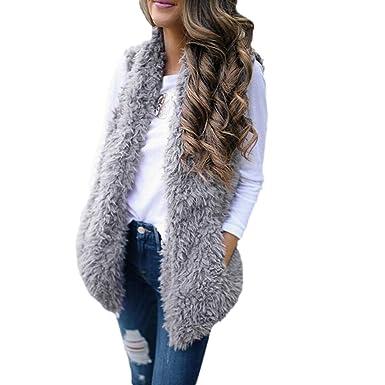 Damen Cardigan Pullover Strickjacke Warme Strickwaren Taschen Lang Mäntel Paket