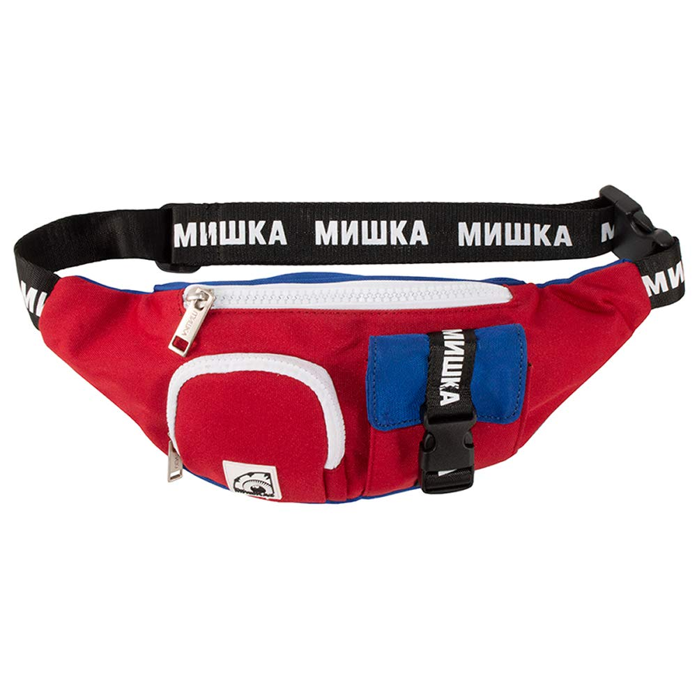 MISHKA(ミシカ)ウェストポーチ ボディバッグ MULTI POCKET K.W BODY BAG Red×Blue (レッド×ブルー)   B07L42HX97