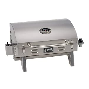 Smoke Hollow 205 Stainless Steel TableTop Propane Gas Grill