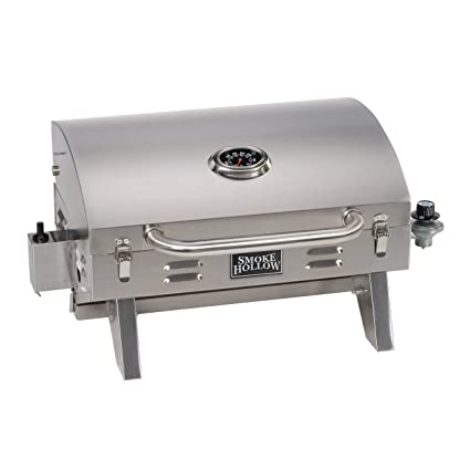 Smoke Hollow 205 Stainless Steel TableTop Propane Gas Grill, Perfect For  Tailgating,camping Or