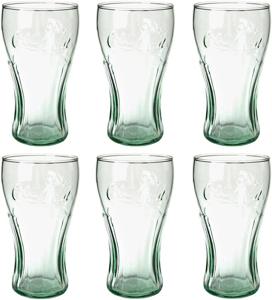 Libbey Coca-Cola 16-3/4-Ounce Glass Tumblers, Georgia Green, Set of 6