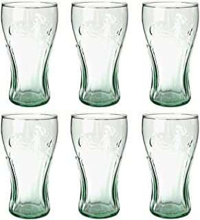 product image for Libbey Coca-Cola 16-3/4-Ounce Glass Tumblers, Georgia Green, Set of 6