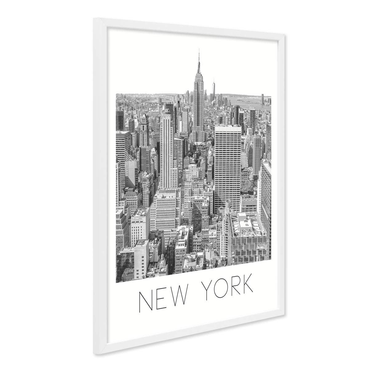 PHOTOLINI Poster mit Bilderrahmen Weiss \'New York\' 40x50 cm schwarz ...