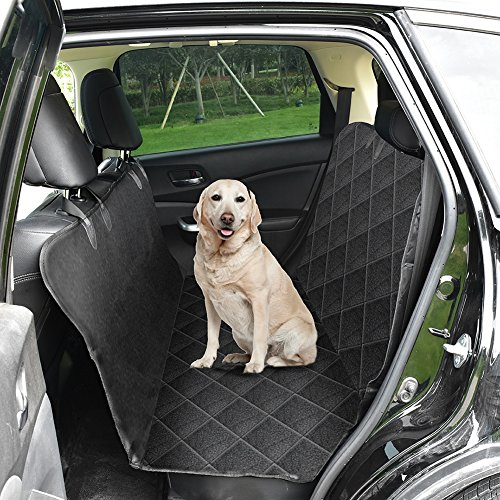 HUANXU Dog Seat Cover, Pet Seat Covers Hammock for Trucks SUV Cars Rear Seat Large Waterproof Nonslip Durable Protector