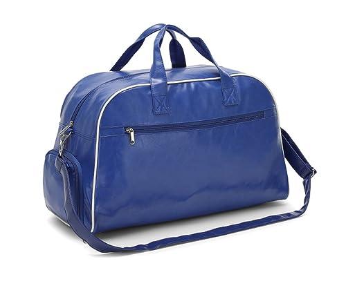 596b27c37a Imago BORSA COLLEGE KLIPSO' sport fitness danza brevi viaggi vano  portascarpe tasche ampie pelle sintetica 55x26x33cm (blu): Amazon.it: Scarpe  e borse