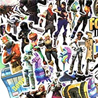 Fortnite Stickers Vinyl Decals - 40pcs Sticker Set for Laptop Car Motorcycle Bicycle Luggage Skateboard - Gaming Graffiti Sticker for Kids and Adults