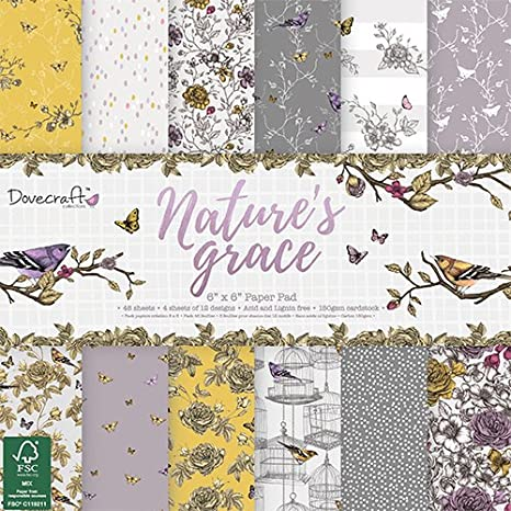 Dovecraft Nature S Grace Collection Paper Pack 6 X6 12 Designs