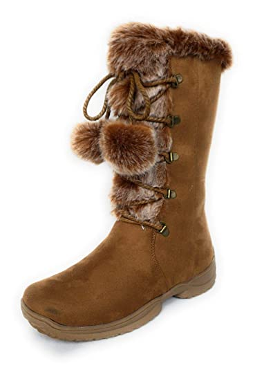 bbeb0ecdefe Amazon.com | Forever Link Emily-9 Women's Fashion Mid High Faux Fur ...
