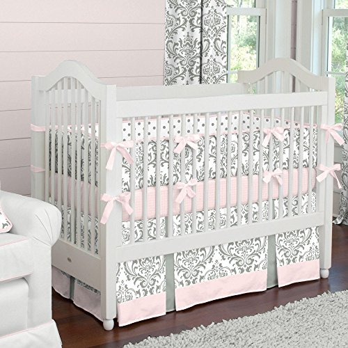 Carousel Designs Pink and Gray Traditions Crib Bumper by Carousel Designs (Image #2)