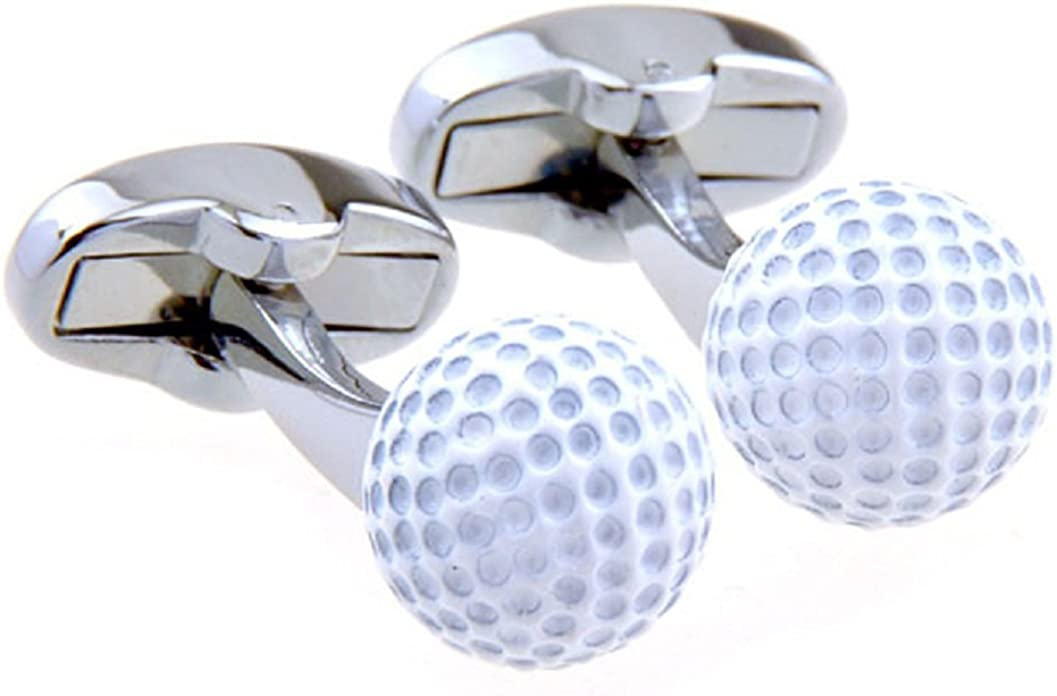 Classic Yellow Tennis Ball Cufflinks Open Tennis Play Round Fun Cool Unique Sports Cuff Links Comes with Gift Box