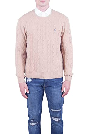 Jersey Ralph Lauren LS Cable Camel Hombre Large Beige: Amazon.es ...