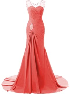 0086997e5b75c Lily Wedding Womens Mermaid Prom Bridesmaid Dresses 2018 Long Evening  Formal Party Ball Gowns FED003