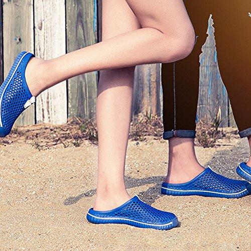 de Sport Bleu Chaussures de Femmes Frestepvie Sabots Mules Léger Respirant Couples Sandales Plage Pantoufles Hommes Tongs PYqZv