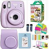 Fujifilm Instax Mini 11 Lilac Purple Camera with Fuji Instant Film Twin Pack (20 Pictures) + Purple Case, Album…