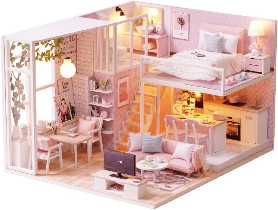 MAGQOO 3D Dollhouse Miniature with Furniture, DIY House Kit with Dust Proof 1:24 Scale Creative Room Idea (Tranquil Life)