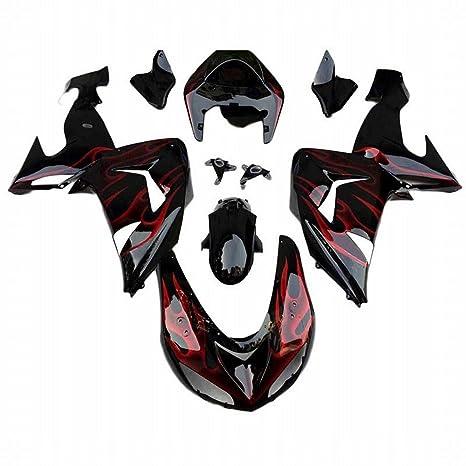 Embellecedores para carrocería marco plástico ABS shell motocicleta carenado cuerpo Set para Kawasaki Ninja ZX10R 2006