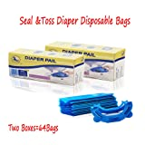 32 Bags 800 Diapers with One Box Seal& Toss