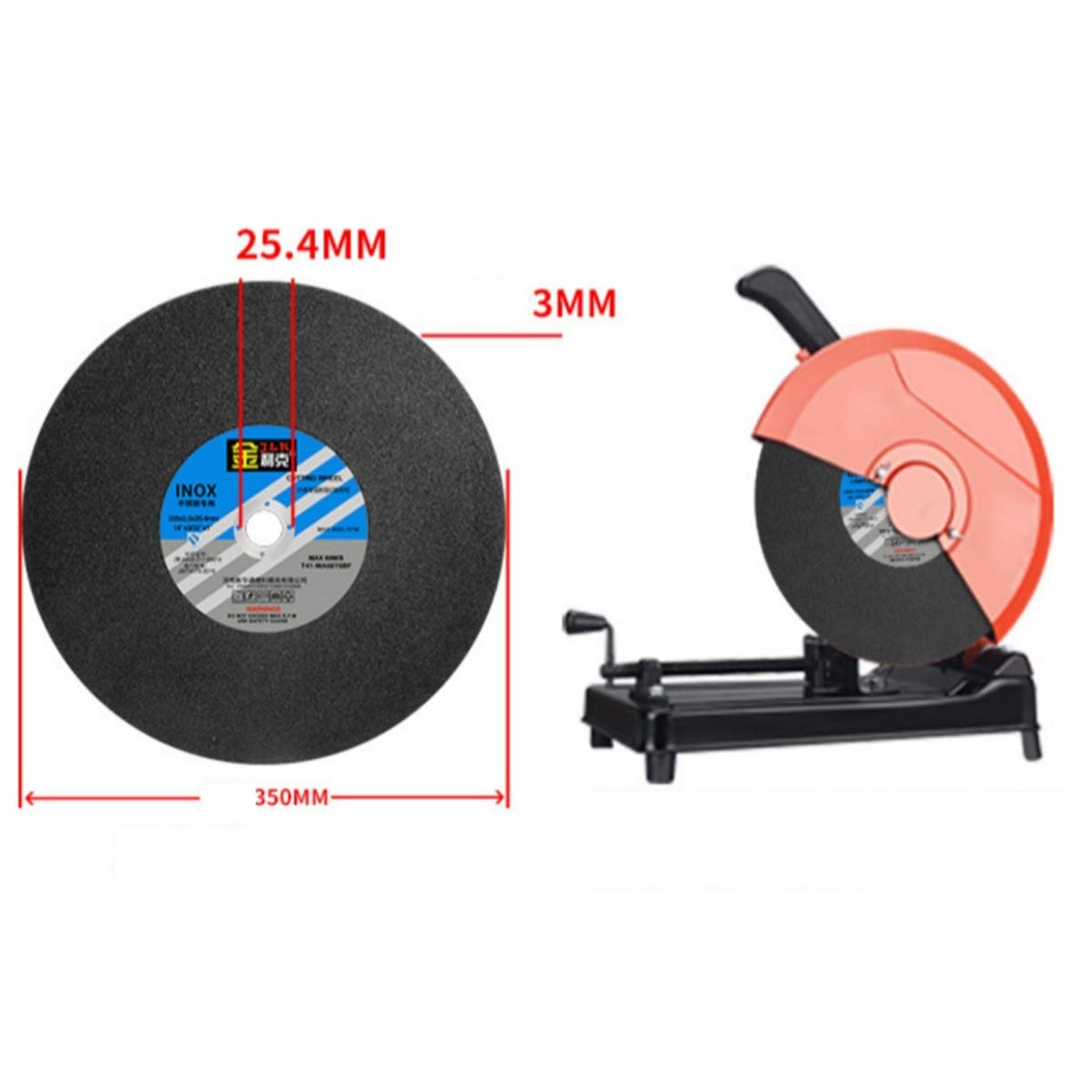 5 Per Pack CHENTAOCS Cutting Machine Cutting Blade 350 400 Grinding Wheel Metal Stainless Steel Grinding Wheel Size : 35025.43 mm