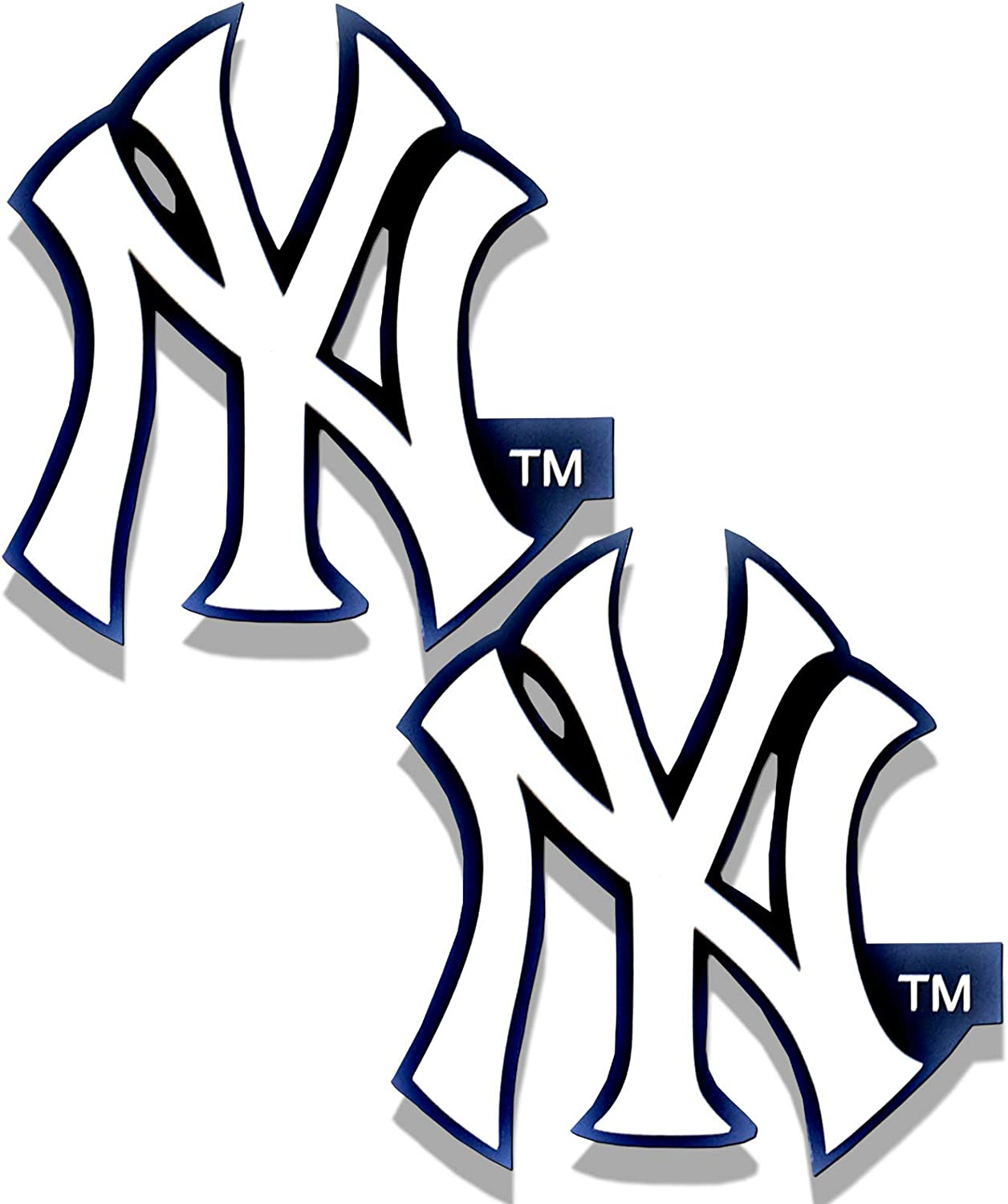 A&A Global 2 Pack Team Choice MLB Licensed Stickers | Team Logo Sticker for Art and Crafts | Wall, Laptop, Cellphone Decoration | Card Dimensions are Approximately 4.25 inches x 2 75 inches