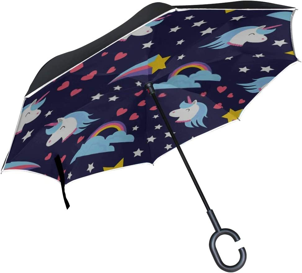 Double Layer Inverted Inverted Umbrella Is Light And Sturdy Abstract Seamless Pattern Girls Boys Vector Reverse Umbrella And Windproof Umbrella Edge