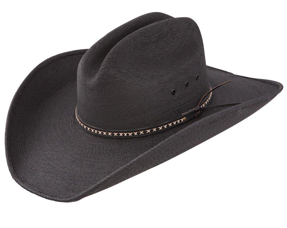 acbae4cfa08ad3 Jason Aldean Men's Asphalt Straw Cowboy Hat Black Large