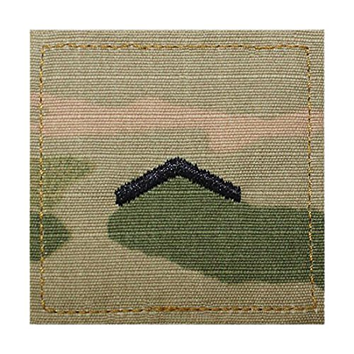 Army ROTC Enlisted Cadet Rank OCP Scorpion with HOOK Fastener (PRIVATE E-2) (Rank Rotc Insignia)