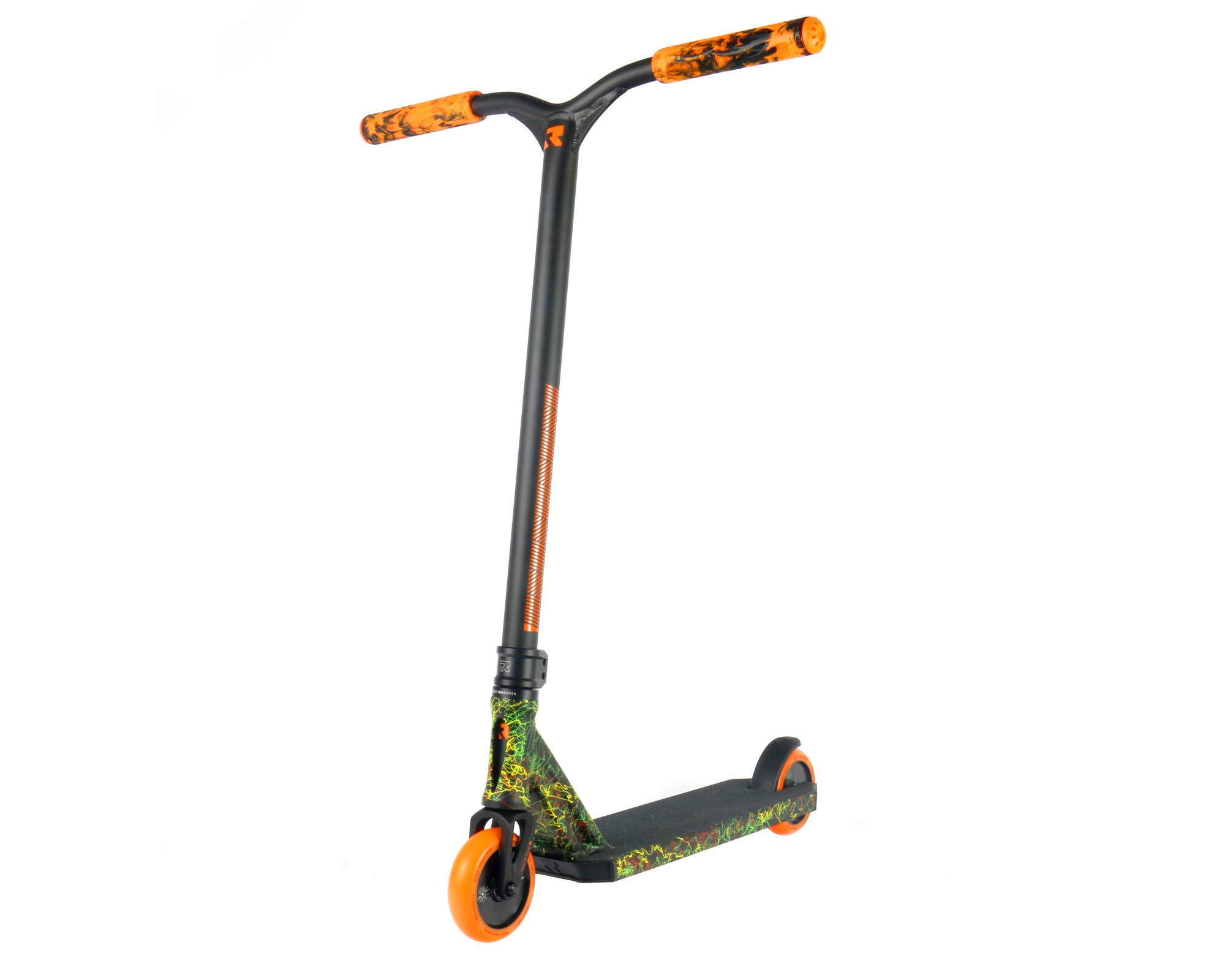 Root Industries Invictus Complete Scooter - Trick/Stunt Kick Scooter - Perfect for Beginner and Intermediate Scooter Riders - Perfect for Kids Ages 8 and Older - Premium Scooter Parts (Blk/Org/YLW)