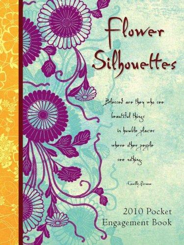 2010 Pocket Calendar - Flower Silhouettes - Pocket 2010 Pocket Calendar