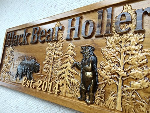 Personalized Wood Sign Custom Carved Cabin Gift Man Cave Wedding