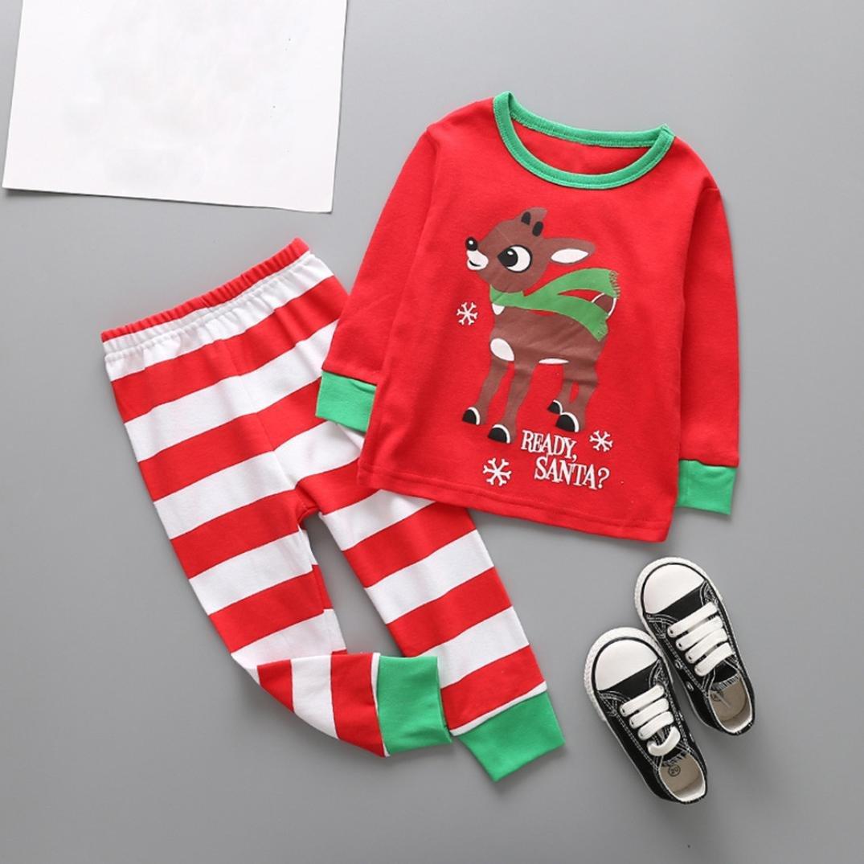 Ecurson Santas Little Helper Baby Girl Boy Christmas Outfits Clothes Set