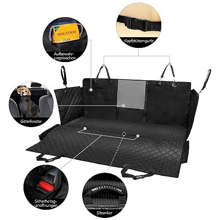 Petacc - Funda para asiento de mascotas a prueba de salpicaduras, resistente a los arañazos, protector para asiento de coche, a prueba de suciedad, ...