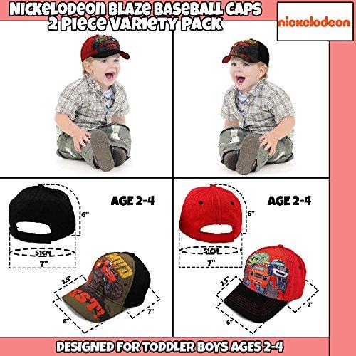 Nickelodeon Toddler Boys Blaze Character Cotton Baseball Cap, 2 Piece Variety Design Set, Age 2-4 by Nickelodeon (Image #3)
