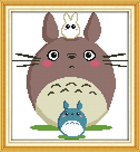 good-value-stamped-cross-stitch-kits-beginners-kids-advanced-totoro-13x14-diy-handmade-needlework-se