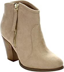Liliana Romane-1 Womens Chunky Heel Riding Ankle Booties
