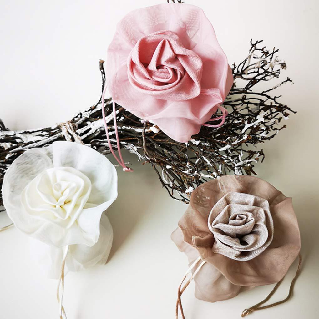 Yevison Premium Quality Random Color Wedding Decor Supplies Cute Flower Pattern Children Candy Storage Bag Package Holder Pouch Gift