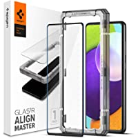 Spigen AlignMaster Screenprotector compatibel met Samsung Galaxy A52 5G, Galaxy A52 4G, Galaxy A52s 5G, Frame voor…