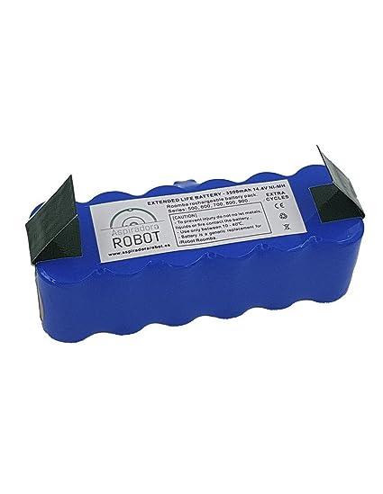 ASP ROBOT Batería LONG LIFE ALTA DURABILIDAD para IRobot Roomba Series 500, 600, 700