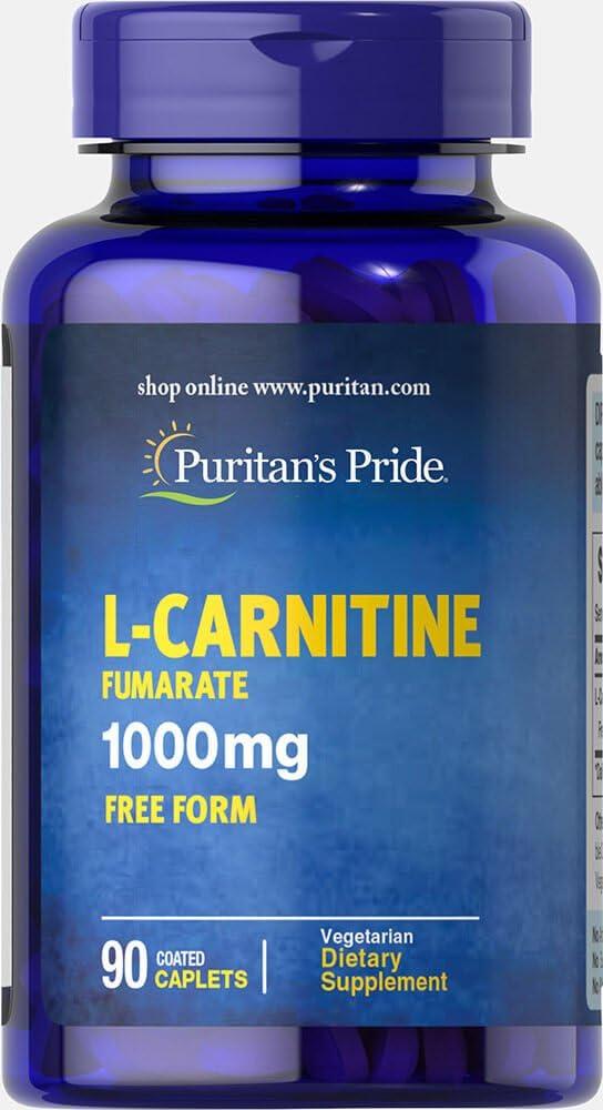 Puritan's Pride L-Carnitine Fumarate 1000 mg-90 Caplets: Health & Personal Care